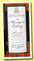 Glenglassaugh 1986/2010 'The Manager's Legacy' (45.3%, OB, Dod Cameron, refill sherry butt, 500 bottles)